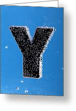 letter Y underwater with bubbles Greeting Card