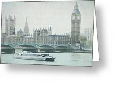 Letters From The Thames - London Greeting Card