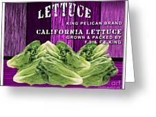 Lettuce Farm Greeting Card