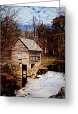 Levi Jackson Park Water Mill Greeting Card by Stephanie Frey