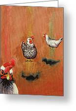 Levitating Chickens Greeting Card