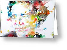Lewis Carroll - Watercolor Portrait Greeting Card