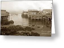 Lewis Fish Market Selected Fresh Fish And Swains Fish Market Monterey 1929 Greeting Card