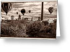 Lewiston Maine Hot Air Balloons Greeting Card