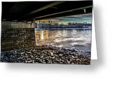 Lewiston Under The Bridge Greeting Card