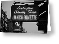 Lexington Candy Shop In Black And White Greeting Card