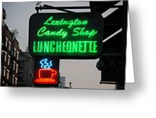 Lexington Candy Shop Greeting Card