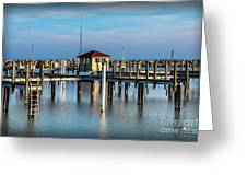 Lexington Harbor With No Boats Greeting Card
