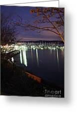 Liberty Bay At Night Greeting Card