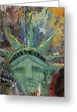 Liberty Breaking Out Greeting Card by Trish Bilich