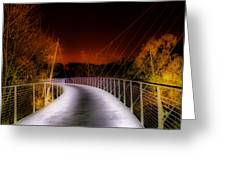 Liberty Bridge At Night Greeting Card