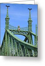 Liberty Bridge Budapest Greeting Card