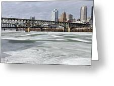 Liberty Bridge # 1 Greeting Card