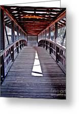 Liberty Bridge Swan Lake Greeting Card