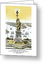 Liberty Enlightening The World  Greeting Card by War Is Hell Store