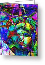 Liberty Head Abstract 20130618 Greeting Card by Wingsdomain Art and Photography