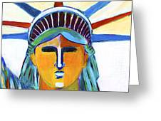 Liberty In Colors Greeting Card