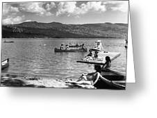 Liberty Lake Summer Leisure In 1940 Greeting Card