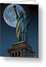 Liberty Moon Greeting Card