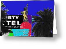 Liberty Motel Sign Statue Of Liberty Phoenix Arizona 1990-2008 Greeting Card
