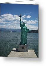 Liberty On Lake Pend Oreille  Greeting Card