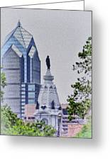 Liberty Place And City Hall Greeting Card