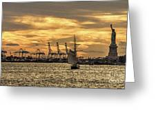 Liberty Sailing  Greeting Card