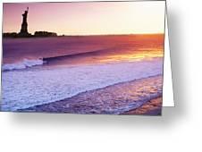 Liberty Surf Greeting Card