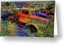 Liberty Truck Abstract Greeting Card