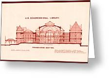 Library Of Congress Design 1877 Greeting Card by Mountain Dreams