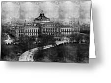 Library Of Congress Washington Dc 1902 Sketch Greeting Card