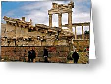 Library On The Pergamum Acropolis-turkey Greeting Card