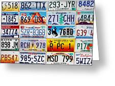 Licence Plates Greeting Card