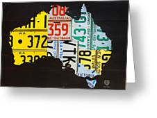 License Plate Map Of Australia Greeting Card