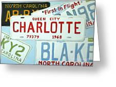 License Plates Greeting Card