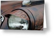 License Tag Eyebrow Headlight Cover  Greeting Card