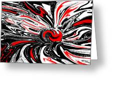 Licorice With Red Cherry Greeting Card