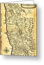 Liebauxs Map Of The Holy Land 1720 Greeting Card