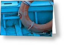 Life Belt In A Skiff Greeting Card