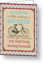 Life-bicycle Greeting Card