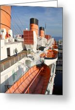 Life Boats 01 Queen Mary Ocean Liner Port Long Beach Ca Greeting Card