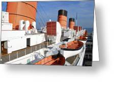 Life Boats 02 Queen Mary Ocean Liner Port Long Beach Ca Greeting Card