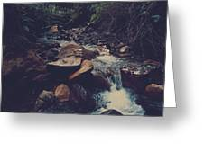 Life Flows On Greeting Card
