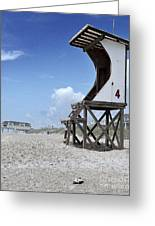 Life Guard Station Greeting Card