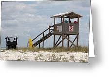 Life Guards On Duty Greeting Card