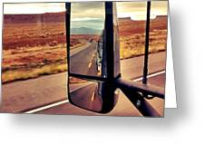 Life In My Rearview Mirror Greeting Card