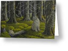 Life In The Woodland Greeting Card by Veikko Suikkanen