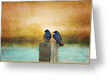 Life Long Friends - Days End Greeting Card