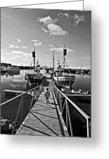 Life On The Docks Greeting Card