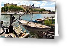 Life On The Seine Greeting Card